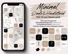 Nude Aesthetic IPhone iOS 14 App icons Theme Pack Cream Beige | Etsy Apple Tv, Apple Watch, Google Drive, Black And White Aesthetic, Beige Aesthetic, Boho Aesthetic, Lightroom, Facebook Messenger, Evernote