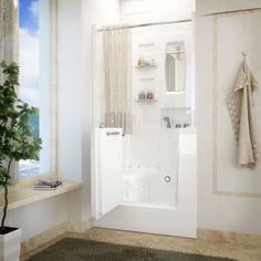 MediTub 3140RWA Walk-In 31 x 40 Right Drain White Air Jetted Walk-In Bathtub
