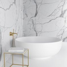 For a unique and relaxing bathroom design, choose the Notion 1500 freestanding stone round bath. Home Luxury, Luxury Bath, Luxury Living, Bath Design, Tile Design, Design Bathroom, Bathroom Styling, Design Kitchen, Magazine Design
