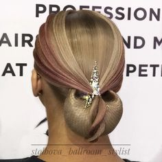 Ballroom Dance Hair - Perfectly styled hair is an important part of the overall. - Ballroom Dance Hair – Perfectly styled hair is an important part of the overall look for ballroo - Dance Hairstyles, Braided Hairstyles Updo, Celebrity Hairstyles, Wedding Hairstyles, Updo Hairstyle, Dance Competition Hair, High Bun Hair, Hair Buns, Ballroom Dance Hair