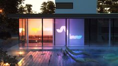 Aurora is a set of connectable color-changing LED wall panels #Startups #Tech