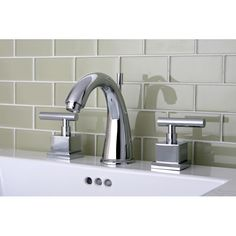 Found it at Wayfair - Claremont Double Handle Widespread Bathroom Faucet with Brass Pop-Up Drain
