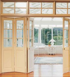 Want this but glass top to bottom.  Eurostyle Windows and Doors – Timber Internal Bi-folds Adelaide