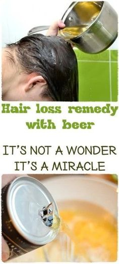 Hair-loss-remedy-with-beer #hairlossremedy