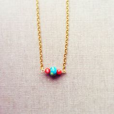Valentine's Day Gift Turquoise and Coral by lowelowejewelry, $18.00