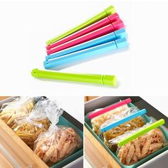 5 Stks/set Draagbare Plastic Bag Clips Voedsel Sealer Keuken Klem Voedsel Saver Keuken Accessoires