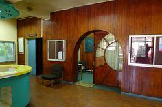 Art deco door - Former Ritz Cinema - Castro, Chiloe Island, Chile