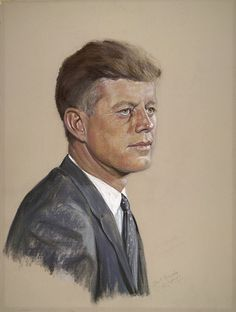 *JOHN F. KENNEDY ~ by Shirley Seltzer Cooper / Pastel, 1961 National Portrait Gallery, Smithsonian Institution; gift of Ted Cooper