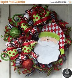 Christmas in July sale Christmas wreath by MrsChristmasWorkshop