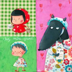 Pinzellades al món: Caputxeta Roja il·lustrada / Caperucita Roja ilustrada / Little Red Riding Hood illustrated / Le Petit Chaperon Roug illustré (18)