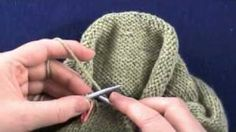 How to knit top-down set-in sleeves using short rows.