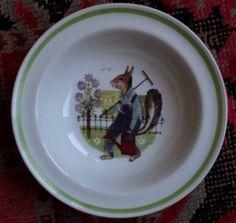 Vintage Arabia Finland Squirrel child's bowl