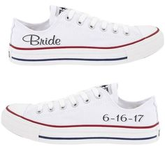 Converse All Star Classic white Wedding Bride Bling Personalized Sneakers  Shoes Sparkly Converse 34f0ce7a0