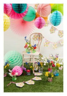 Summer Garden Party Decorations. Decorate the garden with lots of fun and colourful decorations