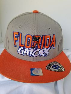 a8c7549992 Florida Gators Top of the World Vintage Tan Orange Snap Back Cap Hat NCAA  WORN  TopoftheWorld  FloridaGators