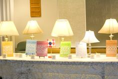 New Beginnings- values - love the lamps - love that it got brighter and brighter as they were all turned on