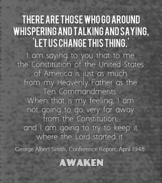 Awaken to Our Awful Situation Prophet Quotes, Gospel Quotes, Lds Quotes, True Quotes, Uplifting Thoughts, Uplifting Quotes, Inspirational Quotes, Constitution Quotes, General Conference Quotes