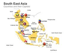 Editable PowerPoint Map: South East Asia Map