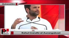 Congress Vice President Rahul Gandhi addresses Congress rally in Aurangabad (Maharashtra).