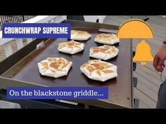 Crunchwrap Supreme on the Blackstone Griddle, Grilling Recipes Hibachi Recipes, Grilling Recipes, Cooking Recipes, Grill Meals, Grilling Ideas, Beef Recipes, Flat Top Griddle, Griddle Grill, Crunch Wrap Supreme Recipe
