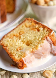 White Chocolate Macadamia Nut Pound Cake DELICIOUS An easy from