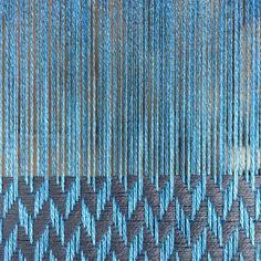 Last one from this warp. Chunky herringbone in blue bamboo & grey organic cotton. #sustainablefashion #sustainable #sustainableliving #sustainabletextiles #sustainabledesign #eco #ecofriendly #ecotextiles #plantbased #vegan #crueltyfree #organic #weaver #woven #woventextiles #textile #textiledesign #textiledesigner #luxury #luxuryyarn #luxurylife #luxurylifestyle #madeinhampshire #madewithlove #footpowered #organiccotton #organiccottonyarn #bamboo #bambooyarn