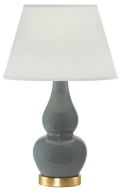 Olympia Table Lamp, Gray Agate | Lighting by Coronet | One Kings Lane