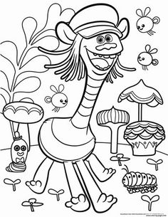 Trolls Coloring Pages Fuzzbert Through The Thousands Of Pictures