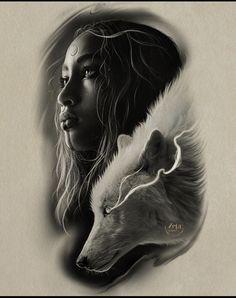 Wolf Tattoos, Body Art Tattoos, Girl Tattoos, Face Drawing Reference, Art Reference Poses, Greek God Tattoo, Realistic Tattoo Sleeve, Face Tattoos For Women, Dark Art Tattoo