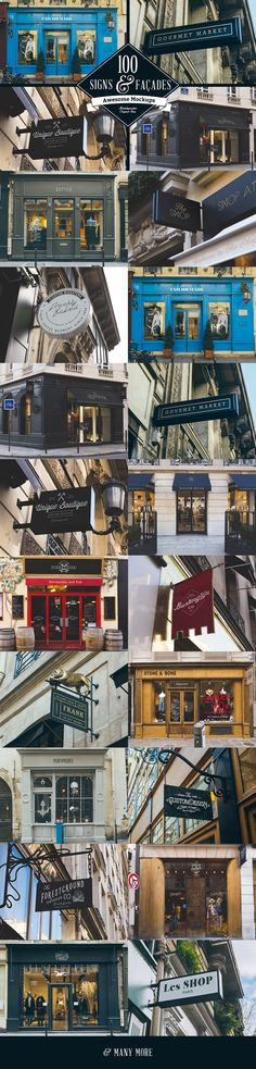 Preview of 100 Signs & facades Mockups. #sign mockup #mockup #facades…
