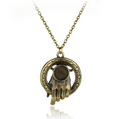 Hot Movies Game of Thrones Necklaces Hand Of The King Bronze Pendant Necklace Steampunk Sweater Chain Necklace Vintage Jewelry