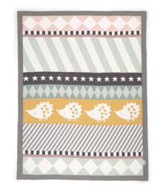 Knitted Blanket - 70 x 90cm - Hedgehog