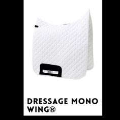HRP® DRESSAGE MONO WING®. Scientifically tested HRP® Pressure Reducing WING® Saddle Pads exert NO pressure behind the saddle over the lumbar spinous processes. Order online: www.hrpequestrian.com  Made in the UK 🇬🇧🐎🙌🏻