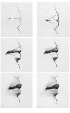 Delineate Your Lips - Lip step by step/how to. - How to draw lips correctly? The first thing to keep in mind is the shape of your lips: if they are thin or thick and if you have the M (or heart) pronounced or barely suggested. Cool Art Drawings, Pencil Art Drawings, Art Drawings Sketches, Eye Drawings, Pencil Drawings For Beginners, Hipster Drawings, Art Illustrations, Drawing Techniques, Drawing Tips