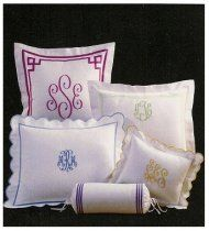 Monogrammed bed pillows!!