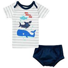Koala Baby Boys' T-Shirt and Knit Diaper Cover