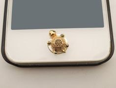 1PC Retro Bling Crystal Cute Turtle iPhone Home Button Sticker Charm for iPhone 4,4s,4g,5,5c Cell Phone Charm Kids Gift on Etsy, $4.48 CAD