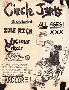 Circle Jerks, Vicious Circle, Verbal Assault punk hardcore show