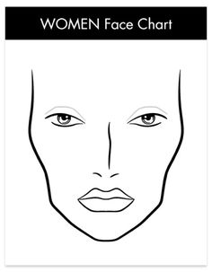 Face Charts on Pinterest | 52 Pins