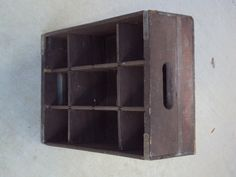 Aged Vintage Pepsi Cola Wood Crate with Dividers by daddydan, $12.99
