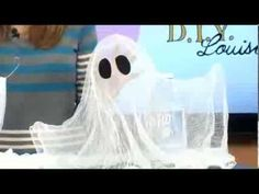 How to make DIY Halloween Floating Ghosts - use cheesecloth and liquid starch. Watch the video to see Julee from D.I.Y. Louisville demonstrate this fun craft...