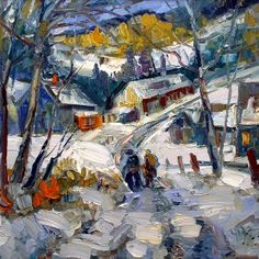 Tatossian, Armand Archives - Galerie Perreault Canadian Painters, Quebec, 21st Century, Landscapes, Houses, Painting, Cutest Animals, How To Paint, Fine Art Paintings