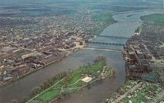 The Rock River between Sterling - Rock Falls, Illinois. Rock Falls, Illinois, City Photo, My Kind Of Town, Pictures Of People, Parks And Recreation, Back In The Day, Homeland, The Rock