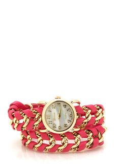 faux leather wrapped watch $33.20
