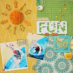 Naomi's Sunny Layout | Freckled Fawn