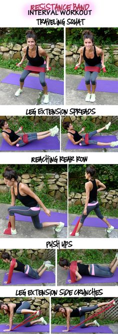 strength training workout using resistance bands