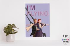 'Im flying Jack'- what a classic movie. This was lovely to draw with the soundtrack on spotify. #bedroom #titanic #movieposters #movieart #wallartdecor #wallartprints #moviequote