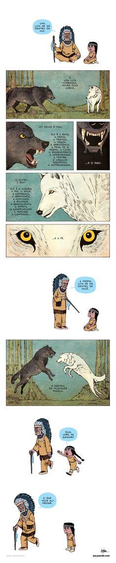 Os dois lobos | reflexão