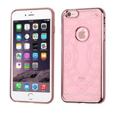 Insten Echo Transparent Back Panel Rubber TPU Case with Electroplated Shock-absorbing Bumper For iPhone 6s Plus /6 Plus - Rose Gold