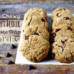 Soft & Chewy Coconut Flour Chocolate Chip Cookies (Gluten Free!)